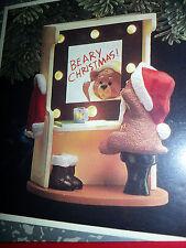 HALLMARK Keepsake 1989 BACKSTAGE BEAR Teddy CHRISTMAS ORNAMENT Vintage NEW