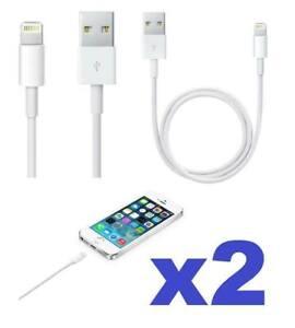 LOT 2 CABLE POUR IPHONE X 8 7 6 5 S SE PLUS IPOD IPAD CHARGEUR USB RENFORCÉ