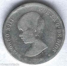 "Alfonso XIII 2 Pesetas 1891 "" Pelato ""@@ Buon esemplare @@"