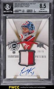 2007 The Cup Signature Carey Price ROOKIE RC PATCH AUTO /75 #SPCP BGS 8.5 NM-MT+