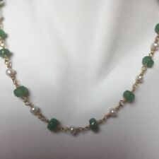Emerald Yellow Gold Natural Fine Necklaces & Pendants