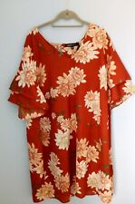 Size 24 Top / Dress Capsule Terracotta Red Floral BNWT
