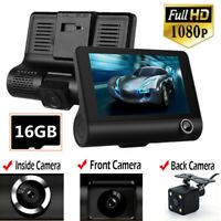 4'' Car Camera DVR 1080P Dash Cams Video Camcorder Motion Detection With SD Card