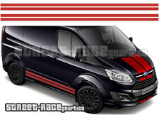 Ford Transit CUSTOM 023 full racing stripes graphics stickers decals SWB LWB