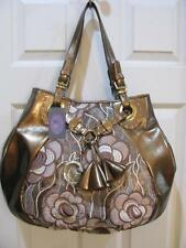 ORIGINAL BY SHARIF TAPESTRY AND METALLIC BRONZE BOHO BAG PURSE