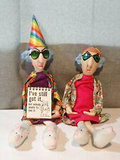 """Lot of 2 Hallmark Maxine Shelf Sitter Doll """"I've Still Got It"""""""