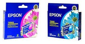 3 x  Epson genuine INK CARTRIDGES (3 xCYAN T0562) - BRAND NEW with Warantee