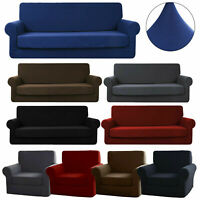 Stretch Micro Fiber Sofa Cover Chair Couch Loveseat Cushion Protector Slipcover