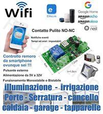 Ricevente WiFi rele NO NC compatibil Google home , Alexa , Nest, amazon echo