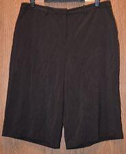 Womens Dark Brown East 5th Flat Front Capri Gaucho Pants Size 16 NWT NEW