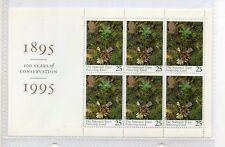 Gran Bretaña Flora Hojita carné del año 1995 (DM-907)