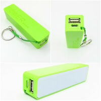 Green Portable USB 2600mAh Mobile Power Bank Charger Battery for iPhone 6 5 HTC