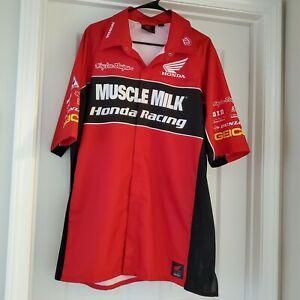 Honda Racing Troy Lee Designs Muscle Milk Pit Crew Garage Shirt Sz 3XL