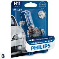 1x H11 Philips White Vision 55W 60% Bombilla del faro 12362WHVB1