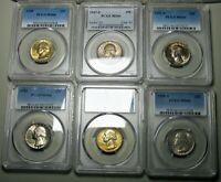 1949 1947-S 1952-S 1941 1948 1948-S Washington Quarter Silver PCGS MS-66 #792