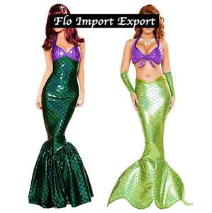 La Petite Sirène Comme Ariel Robe Carnaval Cosplay Peu Mermaid Costume MECOS02 3