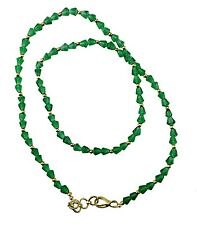 Various Colours Crystal Bead Necklace Plastic Chain Jewellery - Beaded Chain