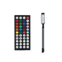 Mini 44Key IR Remote Controller Receiver For RGB 3528 5050 LED Strip Light Black