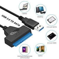 "USB 3.0To SATA 22Pin Adapter Cable for 2.5"" External Hard Disk Driver SSD HDD"