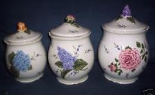 Princess House  Vintage Garden Canister Set  3 Pcs 1491 RARE WOB