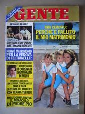 GENTE n°32 1972 Aba Cercato Renata Tebaldi Biagini Deneuve & Mastroianni [G235]