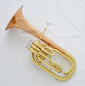 High-Quality Brand New Eb Alto Horn 3 Piston Rose Brass Bell With Case in Stock