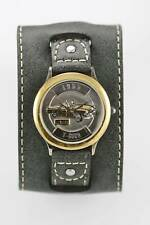 Relic Watch Men 1955 T-Bird Limited Ed Stainless Silver Gold Gray Leather Quartz