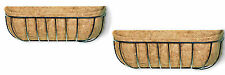 Twin Pack - 90cm Traditional Window Boxes - Wall Trough - Wall Basket - Box