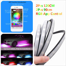 4x RGB LED Under Car Strip Underglow MultiColor Neon Light Phone App Control