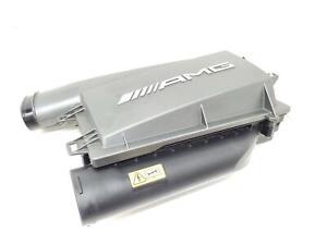 2013-2016 MERCEDES GL63 AMG X166 5.5L LEFT AIR INTAKE CLEANER FILTER BOX OEM
