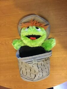 Sesame Street Oscar Bag Soft Toy Teddy Plush Collectable Rare Handbag
