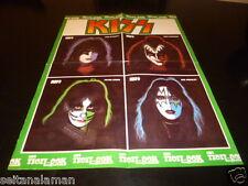 UNIQUE VINTAGE GREEK - KISS POSTER - FROM POP & ROCK MAGAZINE 1978 EXCELLENT