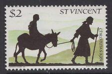 St. Vincent SG684w 1981 $2 Navidad wmk corona a la izquierda de CA estampillada sin montar o nunca montada
