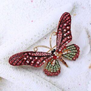 Fashion Butterfly Full Crystal Rhinestone Brooch Pin Women Costume Jewelry Gift