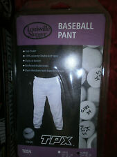 NEW TPX LOUISVILLE SLUGGER X-LARGE 16/18 BASEBALL PANTS LITE GREY