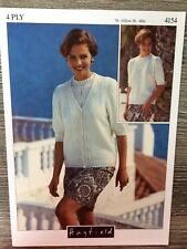 Hayfield Knitting Pattern: Ladies Cardigan & Sweater, 4ply, 4154