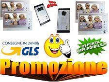 """KIT VIDEOCITOFONO BIFAMILIARE 2 MONITOR LCD 7"""" COLORI VIDEO E FOTO"""