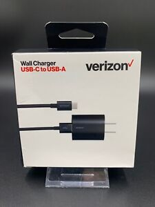 Verizon Wall Charger USB-C to USB-A Fast Charge | Black | 💎NEW💎
