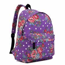 Ladies Girls Horse Print School Travel Backpack Shoulder Bag Rucksack Canvas A4