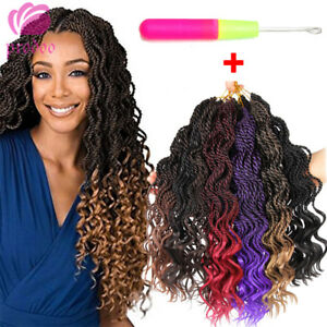 """16"""" Ombre Curly Senegalese Twist Crochet Braid Synthetic Braiding Hair Extension"""