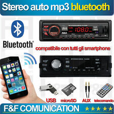 AUTO RADIO STEREO 1 DIN BLUETOOTH MP3  USB  SD  AUX  FM IN DASH IPOD USB NEW