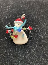 Pin Dangles Tc Enamel Snowman