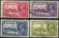 Used Canada Newfoundland 1935 4c-24c F-VF Scott #226-#229 (4) Stamps