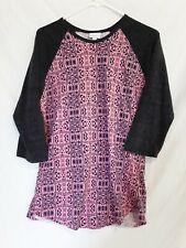 LULAROE Womens Size XL Simply Comfortable Randy 3/4 Raglan Sleeve Shirt