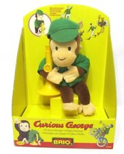 BRIO Curious George Doll New in box Circus Trumpet Plush 32902 Green Jacket Hat