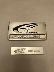 Genuine Subaru Impreza WRX GDA V-limited Emblem set Rare