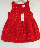 NWT Gap Baby Girl's Corded Dot Tank Dress Size 3-6M 6-12M 12-18M 18-24M MSRP$30