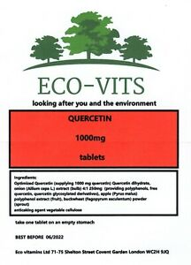 HIGH STRENGTH QUERCETIN  1000mg 60 tablets immune health anti bacterial