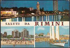AA7773 Saluti da Rimini - Vedute - Cartolina postale - Postcard