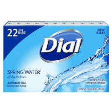 Dial Spring Water 22 Bars Bulk Individually Wrapped Bar Soap Antibacterial 4OZ